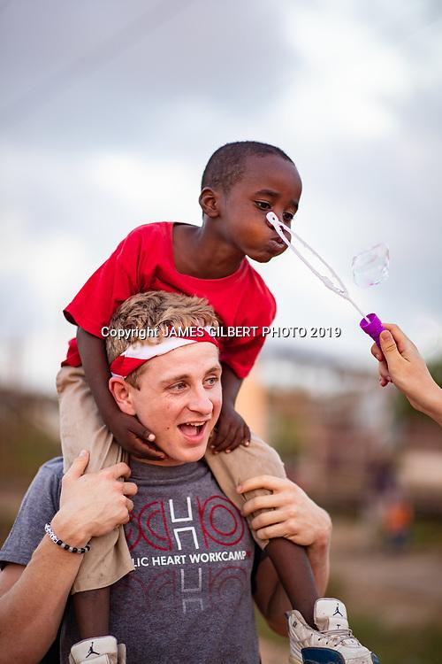 Ethan Senderling <br /> <br /> St Joe mission trip to Belize 2019. JAMES GILBERT PHOTO 2019