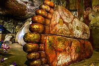 Reclining Buddha, Dambulla Cave Temples, Dambulla, Central Province, Sri Lanka.