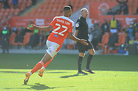 Blackpool's CJ Hamilton wheels away in celebration after scoring his side's second goal  <br /> <br /> Photographer Kevin Barnes/CameraSport<br /> <br /> The EFL Sky Bet League One - Blackpool v Swindon Town - Saturday 19th September 2020 - Bloomfield Road - Blackpool<br /> <br /> World Copyright © 2020 CameraSport. All rights reserved. 43 Linden Ave. Countesthorpe. Leicester. England. LE8 5PG - Tel: +44 (0) 116 277 4147 - admin@camerasport.com - www.camerasport.com
