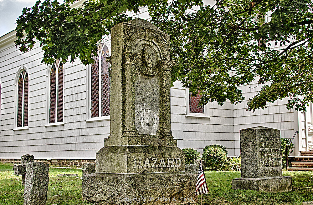 Another stone in Shrewsbury, NJ.  At some point, the Hazard family was the driving force in town.  I don't know all the details, but clearly the face on this headstone was someone to be reckoned with!