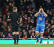 Bournemouth's Harry Arter appeals for a penalty to referee Mike Jones during the Premier League match at the Emirates Stadium, London. Picture date October 26th, 2016 Pic David Klein/Sportimage