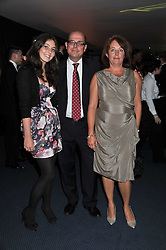 Polictal reporter NICK ROBINSON, his wife PIPPA and daughter ALICE at the GQ Men of the Year 2011 Awards dinner held at The Royal Opera House, Covent Garden, London on 6th September 2011.