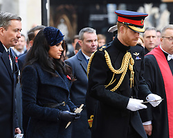The Duke and Duchess of Sussex at The Opening of The Field of Remembrance, Westminster Abbey, London . Photo credit should read: Doug Peters/EMPICS