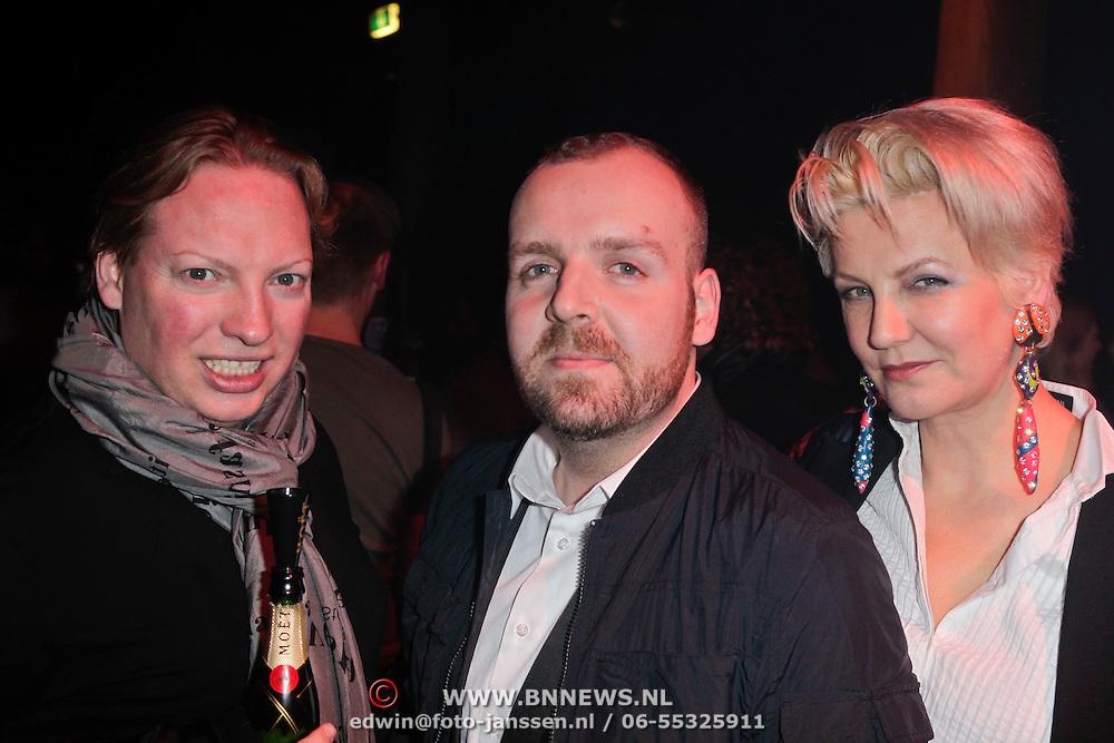 NLD/Amsterdam/20120124 - Modeshow Cold Method 5 jaar, Mayday, oprichter en eigenaar Dieter de Cock n Marianne Vekerk