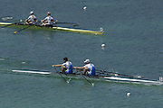 2005 FISA Rowing World Cup Munich,GERMANY. 19.06.2005; ITA LM2X Gold medal winners. Bow Stefano Bassalini and Leonardo Pettinari. Photo  Peter Spurrier. .email images@intersport-images.[Mandatory Credit Peter Spurrier/ Intersport Images] Rowing Course, Olympic Regatta Rowing Course, Munich, GERMANY