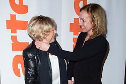 Marianne Faithfull and Sandrine Bonnaire arriving at 'Marianne Faithfull, fleur d'ame' documentary premiere at Cinema Elysee-Biarritz on February 26, 2018 in Paris, France. Photo by Nasser Berzane/ABACAPRESS.COM