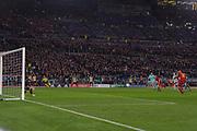 Foto Fabio Rossi/AS Roma/ LaPresse<br /> 10/4/2018 Roma (Italia)<br /> Sport Calcio<br /> Roma-FC Barcellona<br /> UEFA Champions League 2017/2018 - Stadio Olimpico di Roma<br /> Nella foto: De Rossi goal<br /> <br /> Photo  Fabio Rossi/AS Roma/ LaPresse<br /> 10/4/2018 Rome (Italy)<br /> Sport Football<br /> Roma-FC Barcelona<br /> UEFA Champions League  2017/2018 - Stadio Olimpico di Roma<br /> In the pic: De Rossi goal