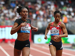 July 22, 2018 - London, United Kingdom - L-R Stephenie Ann McPHERSON of Jamaica (Winner) and Anastasia Le-Roy of Jamaica Compete in the 400m Women race.during the Muller Anniversary Games IAAF Diamond League Day Two at The London Stadium on July 22, 2018 in London, England. (Credit Image: © Action Foto Sport/NurPhoto via ZUMA Press)