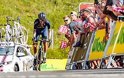 06.07.2017, Kitzbühel, AUT, Ö-Tour, Österreich Radrundfahrt 2017, 4. Etappe von Salzburg auf das Kitzbüheler Horn (82,7 km/BAK), im Bild Stefan Denifl (AUT, Aqua Blue Sport) // Stefan Denifl of Austria (Aqua Blue Sport) during the 4th stage from Salzburg to the Kitzbueheler Horn (82,7 km/BAK) of 2017 Tour of Austria. Kitzbühel, Austria on 2017/07/06. EXPA Pictures © 2017, PhotoCredit: EXPA/ JFK