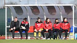 Bristol City bench at Stoke Gifford Stadium - Mandatory by-line: Paul Knight/JMP - Mobile: 07966 386802 - 14/02/2016 -  FOOTBALL - Stoke Gifford Stadium - Bristol, England -  Bristol Academy Women v QPR Ladies - FA Cup third round