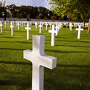 American casualties lie under headstones at the WW2 Madingley American Cemetery, located in the English countryside, Cambridgeshire. Set in over thirty acres of beautifully maintained gardens and lawns, the cemetery contains the bodies of 3812 war dead from the world war two era. Every State of the Union is represented here. In addition inscribed on the Tablets Of The Missing are the names of over 8000 American service men who lost their lives during the war but whose bodies were never recovered. The majority of those buried here were crew members of British based aircraft, however the bodies of some of those killed in North Africa, Normandy, the North Atlantic and various other places are also buried here.