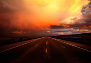 Image of stormy sky along Highway 160 in Arizona, American Southwest by Randy Wells