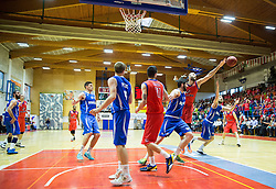 Emir Zimic of Tajfun during basketball match between KK Tajfun and KK Rogaskain 2nd Round of Final of Slovenian National Basketball Championship 2014/15, on May 24, 2015 in OS Hrusevec, Sentjur pri Celju, Slovenia. Photo by Vid Ponikvar / Sportida