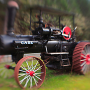 Case Steam Powered Tractor - Pottsville - Merlin, Oregon - Lensbaby