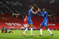 Football - 2020 / 2021 Premier League - Manchester United vs Everton - Old Trafford<br /> <br /> Abdoulaye Doucoure of Everton celebrates scoring his sides first goal with Dominic Calvert-Lewin to make the score 2-1<br /> <br /> COLORSPORT/PAUL GREENWOOD