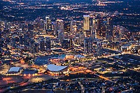 Stampede Park & Scotiabank Saddledome (Foreground) & Downtown Calgary