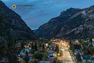 Dusk light in Ouray, Colorado, USA
