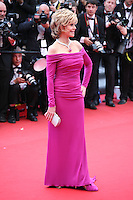 Actress, Jane Fonda at the The Coen brother's new film 'Inside Llewyn Davis' red carpet gala screening at the Cannes Film Festival Sunday 19th May 2013