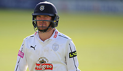 Hampshire's Liam Dawson walks off after being 44 not out.  - Mandatory byline: Alex Davidson/JMP - 07966386802 - 12/09/2015 - CRICKET - The County Ground -Taunton,England - Somerset CCC v Hampshire CCC - Day 4