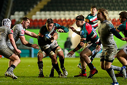 Hanro Liebenberg of Leicester Tigers carries into contact - Mandatory by-line: Nick Browning/JMP - 29/01/2021 - RUGBY - Mattioli Woods Welford Road - Leicester, England - Leicester Tigers v Sale Sharks - Gallagher Premiership Rugby