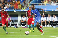 France Midfielder Paul Pogba during the Euro 2016 final between Portugal and France at Stade de France, Saint-Denis, Paris, France on 10 July 2016. Photo by Phil Duncan.