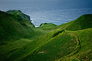 Philippines, Batanes. Lush greenery of Rolling Hills, on Batan Island, the most northern edge of the country.