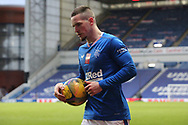 Ryan Kent (Rangers) about to take a corner during the Scottish Premiership match between Rangers and Livingston at Ibrox, Glasgow, Scotland on 25 October 2020.