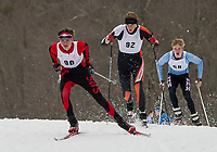 Cal Shrupp of Gilford competes in Cross Country Sprints for St Paul's School at Proctor Academy in Andover on Wednesday afternoon.  (Karen Bobotas/for the Laconia Daily Sun)