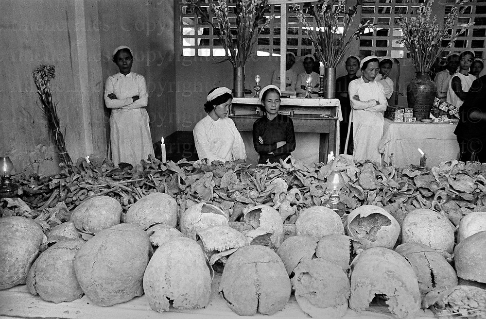 House of death,Nam Hoa Hue, Vietnam, 1969. The Vietnam War was fought between 1st November 1955 until the fall of Saigon on 30th April 1975. Photographed by Terry Fincher.