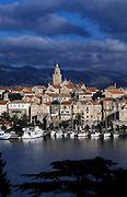 CROATIA: Korcula.The island capital of Korcula Town
