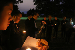 March 16, 2019 - Christchurch, New Zealand - Indonesian Ambassador Tantowi Yahya and consulate staff who have just flown in from Wellington seen paying respect to the victims of the Christchurch mosques shooting. Around 50 people has been reportedly killed a terrorist attack on two Christchurch mosques. (Credit Image: © Adam Bradley/SOPA Images via ZUMA Wire)