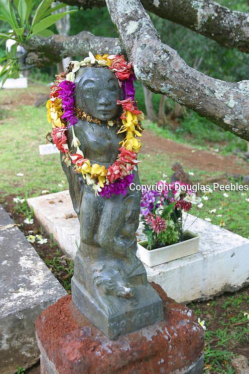 Oviri Statue, Gauguin gravesite, Atuona, Marquesas, French Polynesia<br />