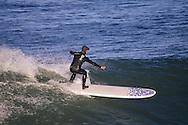 Surfer in San Francisco Bay, California
