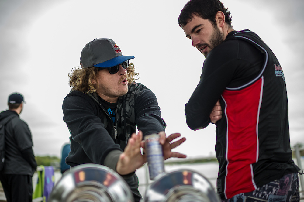 Parks Bonifay Talks to a Participant at Red Bull Boarder Wars in Fort Worth, Texas on October 6th, 2012