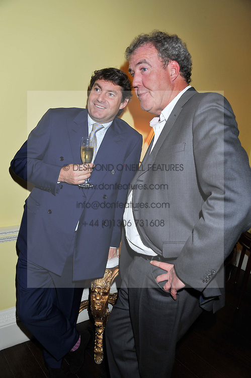 Left to right, CHARLIE BROOKS and JEREMY CLARKSON at Tatler's Jubilee Party in association with Thomas Pink held at The Ritz, Piccadilly, London on 2nd May 2012.
