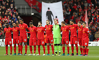 Football - 2016 / 2017 Premier League - Liverpool vs. Watford<br /> <br /> Liverpool team observe a minutes silence at Anfield.<br /> <br /> COLORSPORT