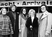 Wexford Opera Festival.       (H40).1974..06.10.1974..10.06.1974..6th October 1974..Today saw the arrival of some of the international artistes who will appear at the Guinness sponsored Wexford Opera festival. opera stars rom all over the world will arrive to perform at the festival. This year the festival will be opened by T.V., and singing star,Mr Val Doonican. The opening will include Illuminations,band parades and a firework display. Mr Thomson Smillie of Scottish Opera will be artistic director this year replacing Mr Brian Dickie..Pictured arriving at Dublin Airport were, Ms Joan Davies, London, Mr Anthony Ransome, London, Ms Mary Hill, London, Ms Helen McArthur, Glasgow,and Mr Kevork Boyaciyan, Turkey.
