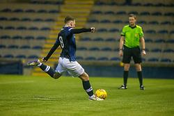 Raith Rovers Regan Hendry misses their penalty. Raith Rovers 2 v 1 Peterhead, Scottish Football League Division One played 4/1/2020 at Stark's Park, Kirkcaldy.