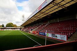 General views inside the stadium- Mandatory by-line: Nizaam Jones/JMP - 10/10/2020 - FOOTBALL - Jonny-Rocks Stadium - Cheltenham, England - Cheltenham Town v Crawley Town - Sky Bet League Two