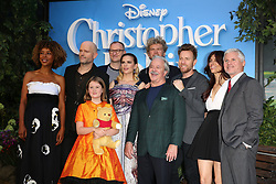 Director Marc Forster (second left) and cast members attend the European premiere of Christopher Robin at the BFI Southbank in London.