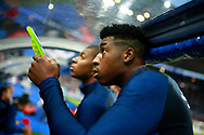 France's defender Presnel Kimpembe reacts during the FIFA World Cup Russia 2018, Qualifying Group A football match between France and Netherlands on August 31, 2017 at the Stade de France in Saint-Denis, north of Paris, France - Photo Benjamin Cremel / ProSportsImages / DPPI