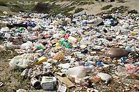 Trash pile.