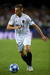 September 19, 2018 - Valencia, Spain - Denis Cheryshev goes passed during the Group H match of the UEFA Champions League between Valencia CF and Juventus at Mestalla Stadium on September 19, 2018 in Valencia, Spain. (Credit Image: © Jose Breton/NurPhoto/ZUMA Press)