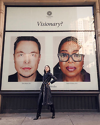 """Coco Rocha releases a photo on Twitter with the following caption: """"""""You say Visionary? I say, just three besties casually hanging out in NYC 👨👩👧 @elonmusk @Oprah #bffsforever"""""""". Photo Credit: Twitter *** No USA Distribution *** For Editorial Use Only *** Not to be Published in Books or Photo Books ***  Please note: Fees charged by the agency are for the agency's services only, and do not, nor are they intended to, convey to the user any ownership of Copyright or License in the material. The agency does not claim any ownership including but not limited to Copyright or License in the attached material. By publishing this material you expressly agree to indemnify and to hold the agency and its directors, shareholders and employees harmless from any loss, claims, damages, demands, expenses (including legal fees), or any causes of action or allegation against the agency arising out of or connected in any way with publication of the material."""