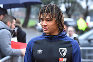 Nathan Ake (5) of AFC Bournemouth arrives at the Vitality Stadium before the Premier League match between Bournemouth and West Ham United at the Vitality Stadium, Bournemouth, England on 19 January 2019.