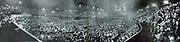 Nazi rally at a stadium in Stuttgart (Hitler on podium) c1933.