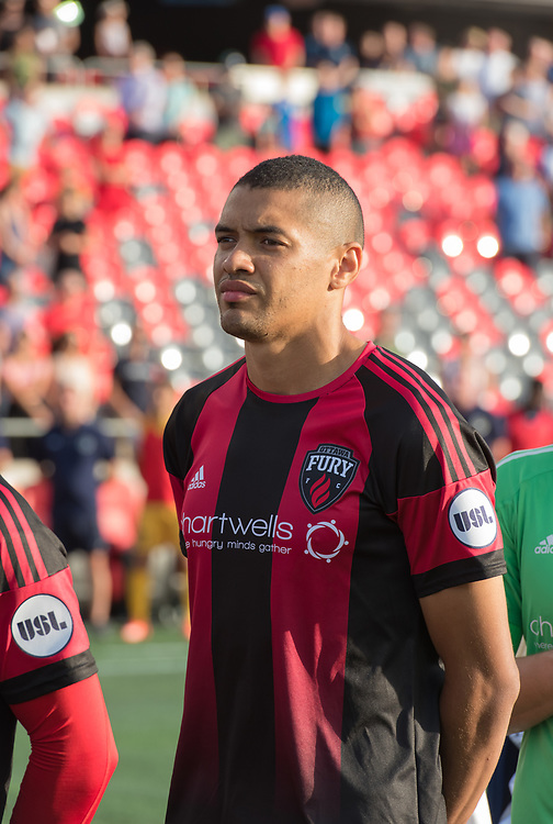 OTTAWA, ON - JULY 21: USL match between the Ottawa Fury FC and Nashville SC at TD Place Stadium in Ottawa, ON. Canada on July 21, 2018.<br /> <br /> PHOTO: Steve Kingsman/Freestyle Photography for Ottawa Fury FC