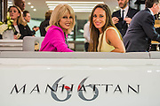 Joanna Lumley opens the Sunseeker stand alond with Alexandra Legouix - The London Boat Show opens at the Excel centre. London 06 Jan 2017