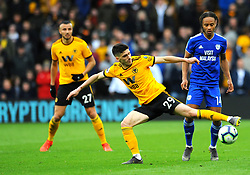 Ruben Vinagre of Wolverhampton Wanderers tries to control the ball- Mandatory by-line: Nizaam Jones/JMP - 02/03/2019 - FOOTBALL - Molineux - Wolverhampton, England -  Wolverhampton Wanderers v Cardiff City - Premier League