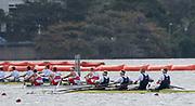 "Rio de Janeiro. BRAZIL.  GBR M4-, Bow Alex GREGORY, Mohamed SBIHI, George NASH and Constantine LOULOUDIS. 2016 Olympic Rowing Regatta. Lagoa Stadium,<br /> Copacabana,  ""Olympic Summer Games""<br /> Rodrigo de Freitas Lagoon, Lagoa. Local Time 09:45:47  Thursday  11/08/2016 <br /> [Mandatory Credit; Peter SPURRIER/Intersport Images]"
